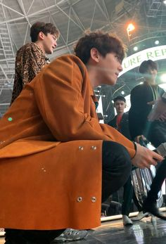 Baekhyun, Nature Republic, Exo Members, Chanbaek, Boyfriend Material, Korean, Menswear, Leather Jacket, Celebs