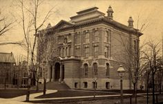 The old Detroit Public Library about 1881, around five years after it opened.  It was opened 1875, closed/demolished 1931.