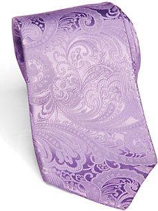 Sean John Purple Paisley Extra Long Silk Tie