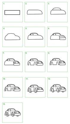Schoolwiz - Hoe teken je een auto