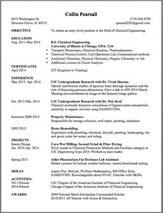 chemical engineering resume sample collin pearsall 4910 washington st