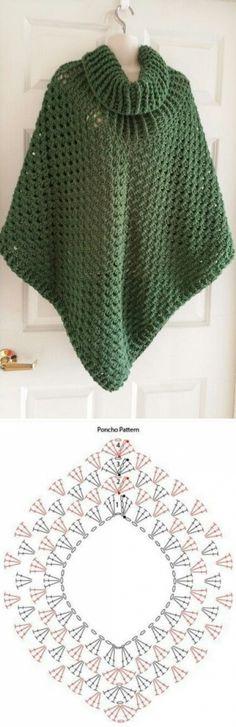 Вязание-крючок-Накидки и Пончо и Шали