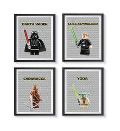 Star Wars Nursery, Nursery Art, Star Wars Art, Lego Star Wars, Star Wars Bathroom, Bathroom Rules, Playroom Decor, Personalized Invitations, Art Prints