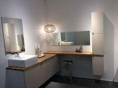 HTH Nykøbing F Oak Doors, Nordic Style, Bathroom Inspiration, Double Vanity, Copenhagen, Kitchen, Bathrooms, Google, Design