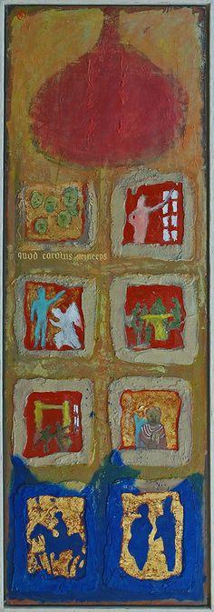 BYZANTIUM-EUROPA I 150 x 50 cm mixed media on panel 1997