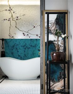 LSDcasa 丨 Place yourself or chase your identity? Beijing COFCO Ruifu-Home News-… Luxury Homes Interior, Home Interior, Interior Decorating, Interior Design, Decorating Bathrooms, Modern Chinese Interior, Asian Interior, Chinese Bathroom, Powder Room Design