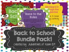 Back to School Bundle Pack - 3 separate activities in ONE!  Discounted Price $
