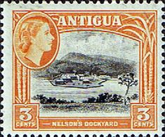 Antigua 1953 Nelson s Dockyard Fine Mint SG 123 Scott 111 Other British Commonwealth Empire and Colonial Stamps Here