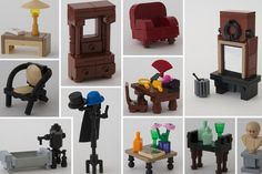 Lego furniture. Love it.  #LegoHouse #InteriorDesign
