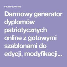 Darmowy generator dyplomów patriotycznych online z szablonami