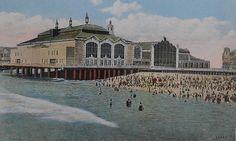 1930s Vintage Postcard ASBURY PARK CASINO Mayfair Theatre Boardwalk NEW JERSEY by Christian Montone, via Flickr