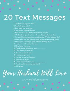20 Text Messages Your Husband Will Love The Holy Mess