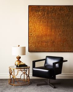 A photograph by the Toronto photographer Angus Fergusson, and I love the painting over the strange office meets Mad Men meets 2012 chair.
