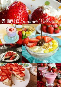 21 Tage Fix Summer Desserts - 21 Day Fix Kid-Friendly Recipes - chicken 21 Day Fix Desserts, Summer Desserts, Healthy Desserts, Summer Recipes, Dessert Recipes, Summer Food, 21 Day Diet Plan, Filling Food, Healthy Groceries