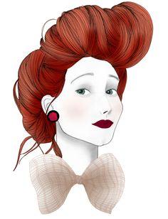 Fashion illustration 'Really?' by Rebecca Elliston aka BeckiBoos