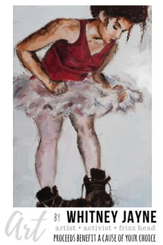 Be who you were born to be, Ballerina Boots, Ballerina painting, be yourself, be original, you be you, tom boy art, painting for misfits, lgbtq,  self awarness art, #selfawareness #innerchild #bewhoyouwereborntobe #youbeyou #byourself #tomboy #artwithacause #artforsale #artist #originalart #painting #giclee #artwork #artprint #DestinationConnectionProject