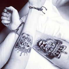 Lion With Crown Tattoo - Crowned Lion Tattoo Ideas Best Couple Tattoos, Love Tattoos, Sexy Tattoos, Beautiful Tattoos, Body Art Tattoos, Tattoos For Women, Country Couple Tattoos, Wing Tattoos, Cross Tattoos