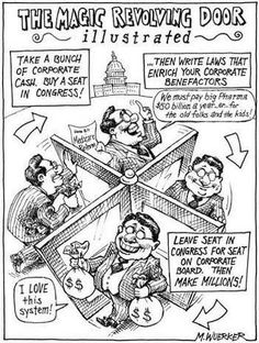 The Magic Revolving Door (of Congress) - Illustrated ... round and round they go ... but will it ever stop, no one knows?