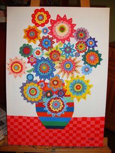 flower power painting - Le monde de Sucrette
