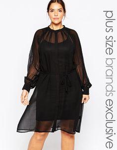 Vestido con capa superior de malla Premium de Carmakoma