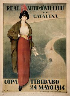 Real Automovil Club De Cataluna 1914 Vintage Racing Poster