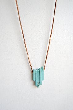 Turquoise Arrow Necklace - Fall Fashion Jewelry - Christmas Gift - Free Shipping in the US. $27.00, via Etsy.