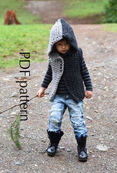 CROCHET patternSAVVA hooded vest sizes by WARMcosyWOOLeu on Etsy