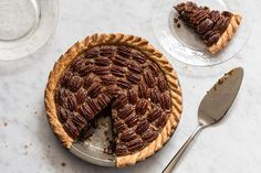 Brown-Butter Pecan Pie with Rum and Espresso / Photo by David Cicconi, Food Styling Rhoda Boone