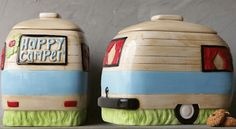 Vintage Camper Cookie Jar