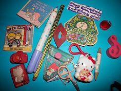 misc '80s stationery and toys
