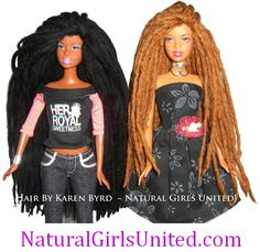 sooooo diggin' the natural hair barbies!!
