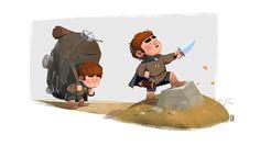 https://www.behance.net/gallery/23374039/JRR-Tolkien-illustrations