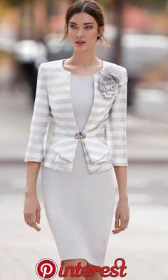 Mother Of The Bride Dress Jacket - Fab Frocks Bride Groom Dress, Groom Outfit, Neue Outfits, Prom Dresses, Formal Dresses, Bride Dresses, Jacket Dress, The Dress, Mother Of The Bride