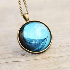 Gorgeous feather pendant