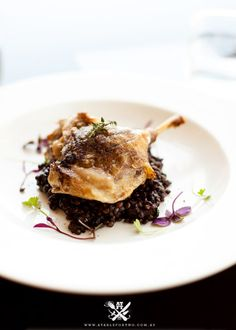 Muse - Pokolbin, Hunter Valley, NSW {Crispy Skin Duck Leg Confit served with Red Wine Black Lentils and Smoked Specks within}