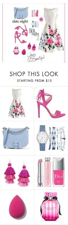 """""""Love summer"""" by femina-mode ❤ liked on Polyvore featuring Chicwish, GUESS, Little Liffner, A.X.N.Y., Armitage Avenue, Christian Dior and Victoria's Secret"""