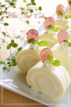 White chocolate contains ☆ white roll cake