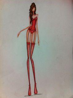 Ilustración #DiseñoDeModas LinaBermudez
