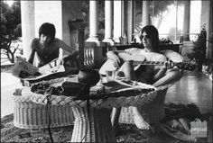 Keith Richards and Gram Parsons at Villa Nellcôte during the making of Exile On Main Street south of France 1971