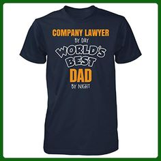 Company Lawyer By Day Worlds Best Dad By Night Fathers Day - Unisex Tshirt - Careers professions shirts (*Amazon Partner-Link)