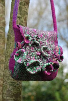 Hand felted bag | Flickr - Photo Sharing!              ? The cloth of nuno felting
