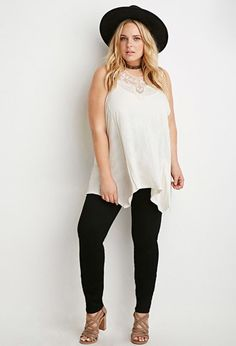 Plus Size High-Waisted Skinny Jeans (Regular) | Forever 21 PLUS - 2000056509