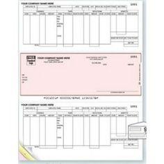 2 Part MAS 90 Compatible Laser Payroll Check | Business Checks ...