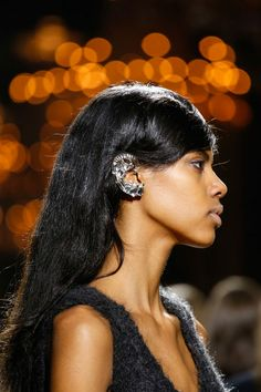 Crystal ear cuff w/ google glasses??? or @iphone buds??? @driesvannoten