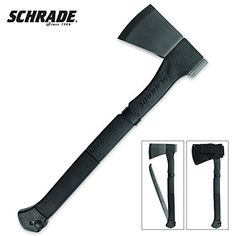 Schrade SCAXE9 Large Axe 3Cr13 Stainless Steel Blade with Folding Saw PA  TPR Rubber Handle Box Packaging * Read more at the image link.
