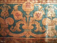 RARE Stunning Antique Mohair Velvet Carpet Border by RuinsCa, $89.00