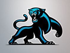 Contemporary Artist - Fraser Davidson designed a conceptual logo for the Carolina Panthers of the NFL. This team recently had a logo change.
