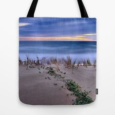 Wind sunset Tote Bag by Guido Montañés - $22.00