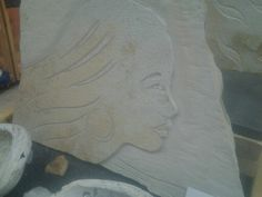 "A garving of a lady I made on Sunday"" Nov 2... ""Beauty of the rocks."" I am at Central Station Marketplace... 3310 Central Ave in Hot Springs, AR"
