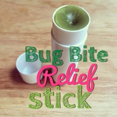 All Natural bug bite relief stick made with essential oils and beeswax